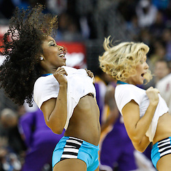 February 5, 2011; New Orleans, LA, USA; New Orleans Hornets Honeybees dancers perform during the fourth quarter of a game against the Los Angeles Lakers at the New Orleans Arena. The Lakers defeated the Hornets 101-95.  Mandatory Credit: Derick E. Hingle