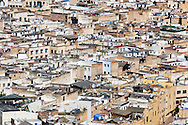 The old town (medina) of Fés in Morocco - UNESCO World heritage site.