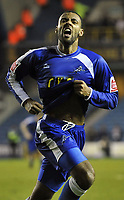 Fotball<br /> England<br /> Foto: Fotosports/Digitalsport<br /> NORWAY ONLY<br /> <br /> Millwall vs Southampton League 1 16/01/2010<br /> <br /> Liam Trotter celebrates scoring Millwall's equalising goal.