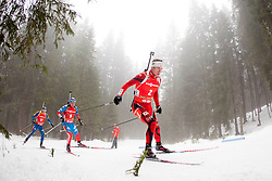 SVENDSEN Emil Hegle of Norway during Man 15km mass start of the e.on IBU Biathlon World Cup on Sunday, December 16, 2012 in Pokljuka, Slovenia. The third e.on IBU World Cup stage is taking place in Rudno polje - Pokljuka, Slovenia until Sunday December 16, 2012. (photo by Urban Urbanc / Sportida.com)