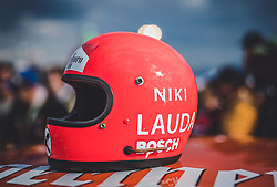 21.05.2019, AUT, ARCHIV, Niki Lauda am 20. Mai im Alter von 70 Jahren verstorben, im Bild Helm von Niki Lauda (AUT), 30.06.2018, Red Bull Ring, Spielberg, Legendenparade // ARCHIVE, Niki Lauda passed away on 20 May at the age of 70. the Helmet of Niki Lauda (AUT) during Legends Race of the Austrian FIA Formula One Grand Prix at the Red Bull Ring in Spielberg, France on 2018/06/30. EXPA Pictures © 2019, PhotoCredit: EXPA/ JFK