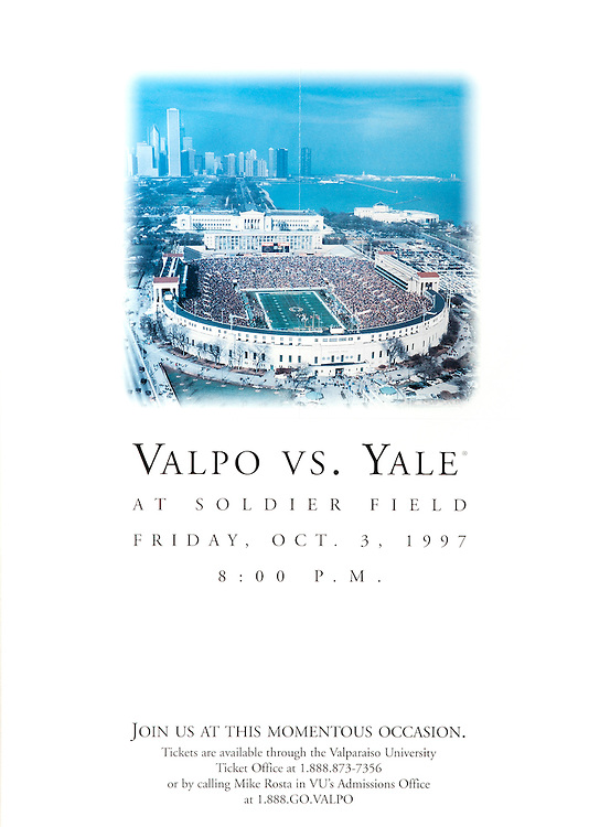 Valpo Vs. Yale at Soldier Field poster