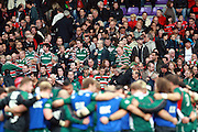 A general view of Leicester fans before the Heineken Cup match between Stade Toulouse and Leicester Tigers at Stade Municipal on October 14, 2012 in Toulouse, France.  Eoin Mundow/Cleva Media