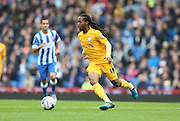 Preston North End midfielder Daniel Johnson (11) breaks forward during the Sky Bet Championship match between Brighton and Hove Albion and Preston North End at the American Express Community Stadium, Brighton and Hove, England on 24 October 2015.