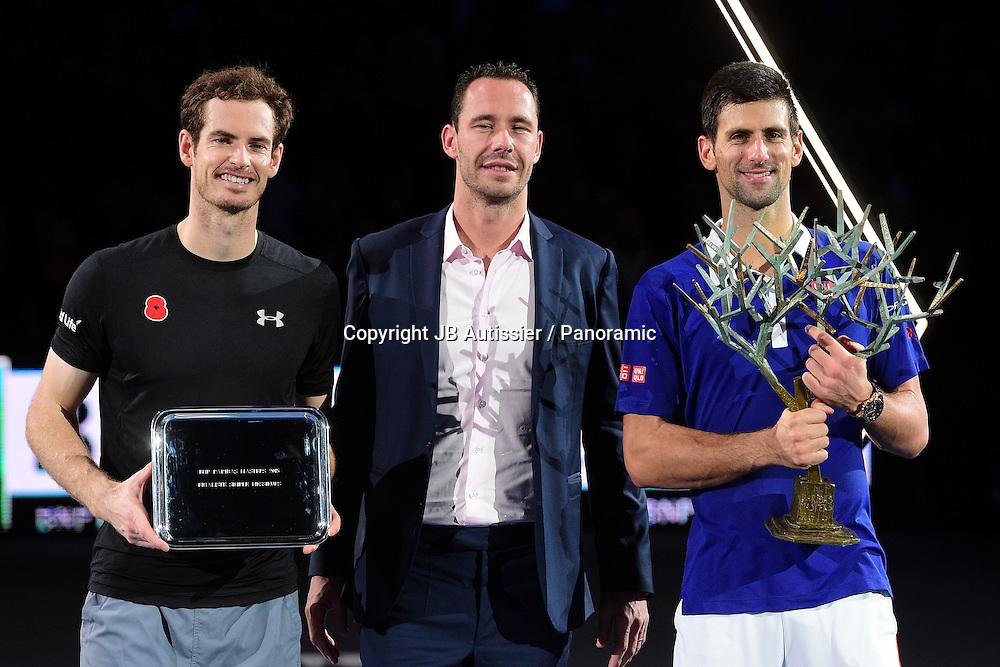 Andy Murray (GBR) - Mickael Llodra et Novak Djokovic (SRB)