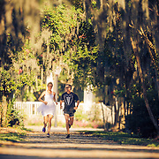 Images from Caitlin and Irv's runner's wedding at Hampton Park and downtown Charleston, South Carolina.