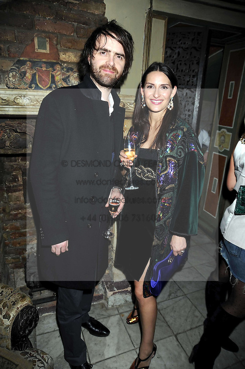 STEPHEN TONER and CARMEN HAID at a party to celebrate the launch of Atelier-Mayer.com held at 83 Princedale Road, London W11 on 15th January 2009.