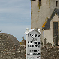 HRH The Prince Charles Duke of Rothesay and HRH Duchess of Rothesay unveil a plaque for the opening of the new Church Hall at Canisbay Church  (Caithness) Scotland Aug 5 2007