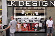 Nederland, Nijmegen, 26-5-2018JK Design kledingwinkel houdt opheffingsuitverkoop .Foto: Flip Franssen