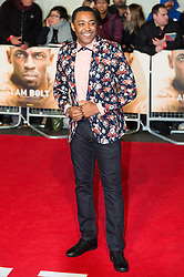 © Licensed to London News Pictures. 28/11/2016. DARREN CAMPBELL attends the I Am Bolt world film premiere. London, UK. Photo credit: Ray Tang/LNP