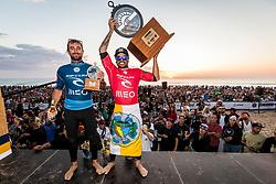 Italo Ferreira (BRA) and Joan Duru (FRA)  Winner and Runner Up of the MEO Rip Curl Pro Portugal 2018