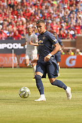 July 28, 2018 - Ann Arbor, MI, U.S. - ANN ARBOR, MI - JULY 28: Manchester United Midfielder Andreas Pereira (15) in action during the ICC soccer match between Manchester United FC and Liverpool FC on July 28, 2018 at Michigan Stadium in Ann Arbor, MI. (Photo by Allan Dranberg/Icon Sportswire) (Credit Image: © Allan Dranberg/Icon SMI via ZUMA Press)