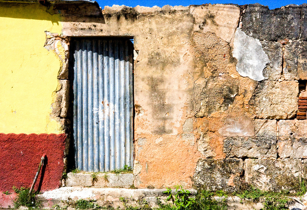 Wall and door in Cardenas, Matanzas, Cuba.