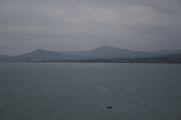 Grainy landscape of Killiney Bay, Dublin, Ireland
