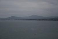Grainy landscape of Killiney Bay, Dublin, Ireland