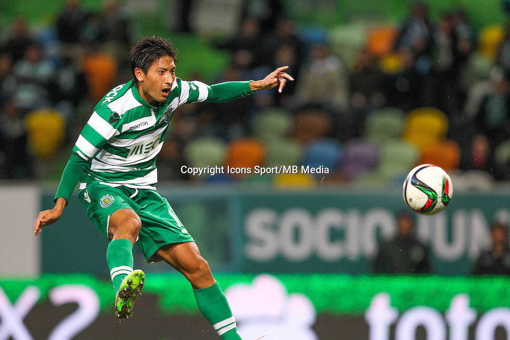 Junya Tanaka - 28.01.2015 - Sporting / Vitoria Setubal -Coupe de la ligue- Portugal-<br /> Photo : Carlos Rodrigues /  Icon Sport
