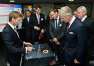 King Philippe visits AGC Glass in Gosselies