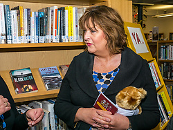 Pictured: Scottish Government Public Libraries Funding Announcement. Culture Minister Fiona Hyslop announces this year's successful bids to the &pound;450,000 Public Library Improvement Fund (PLIF) at the John Grey Centre, Haddington Library, Haddington, East Lothian, Scotland, United Kingdom.  PLIF has been supporting innovative library projects since 2006 which help both individuals and communities.  13 December 2018  <br /> <br /> Sally Anderson | EdinburghElitemedia.co.uk