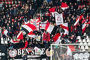 ALKMAAR - 06-03-2016, AZ - Excelsior, AFAS Stadion, 2-0, supporters, vlaggen, sfeer.