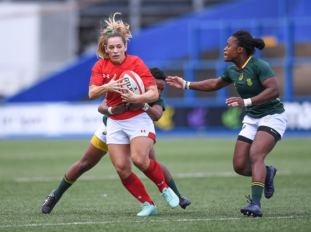 Wales Kerin Lake<br /> Wales Women v South Africa Women<br /> Autumn International<br /> <br /> Photographer Mike Jones / Replay Images<br /> Cardiff Arms Park<br /> 10th November 2018<br /> <br /> World Copyright © 2018 Replay Images. All rights reserved. info@replayimages.co.uk - http://replayimages.co.uk