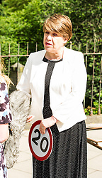 Pictured: Councillor Lesley Hinds<br /> Councillor Lesley Hinds, transport convener for Edinburgh City Council, joined The Reducer at the launch of the new speed limit, which sees a maximum speed of 20mph in the city centre and rural west of the city from July 31<br /> <br /> Ger Harley | EEm 27 July 2016