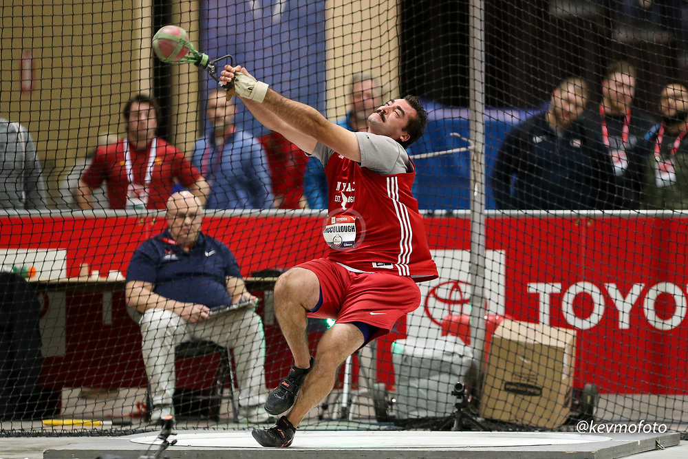 2020 USATF Indoor Championship<br /> Albuquerque, NM 2020-02-14<br /> photo credit: © 2020 Kevin Morris<br /> mens weight throw, NYAC