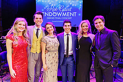 The six finalists - Georgina Hopson, Blake Appelqvist, Hilary Cole, recipient Daniel Assetta, Ashleigh Rubenach and Robert McDougall - on stage at the Rob Guest Endowment Gala 2015, taken at the Lyric Theatre in Sydney, on Monday, 9 November 2015.  <br /> <br /> Hosted by David Campbell and Lucy Durack, guest artists performing at the concert included musical theatre performers Rob Mills, Caroline O'Connor and Jemma Rix, Dirty Dancing star Mark Vincent, 2014 Rob Guest Endowment winner Josh Robson, and cast members from CATS and Matilda the Musical.<br /> <br /> The six finalists for the 2015 Rob Guest Endowment are Blake Appelqvist (West Side Story, new VCA Graduate), Daniel Assetta (Cats, Wicked), Hilary Cole (Carrie, Dogfight), Georgina Hopson (Into The Woods, The Pirates of Penzance), Rob McDougall (Les Miserables, Phantom of the Opera) and Ashleigh Rubenach (Anything Goes, The Sound of Music).  The competition was judged by three of Australian musical theatre's finest creatives, Kelly Abbey, Peter Casey and Gale Edwards.<br /> <br /> The 2015 recipient was Daniel Assetta.