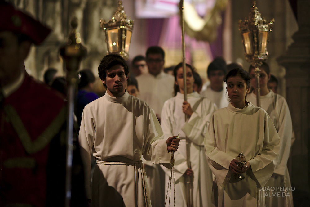 The Foot Washing mass at Braga's Cathedral, held on on Holy Thursday, during Semana Santa