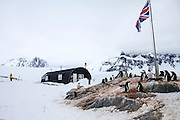 Port Lockroy, Antarctic Treaty Historic Site No. 61, British Base A. The base was used for research until 1962, including the first measurements of the ionosphere, and the first recording of an atmospheric whistler (a phenomenon created by geomagnetic storms) from Antarctica. It is now a museum and home to a small Gentoo penguin (Pygoscelis papua) colony.
