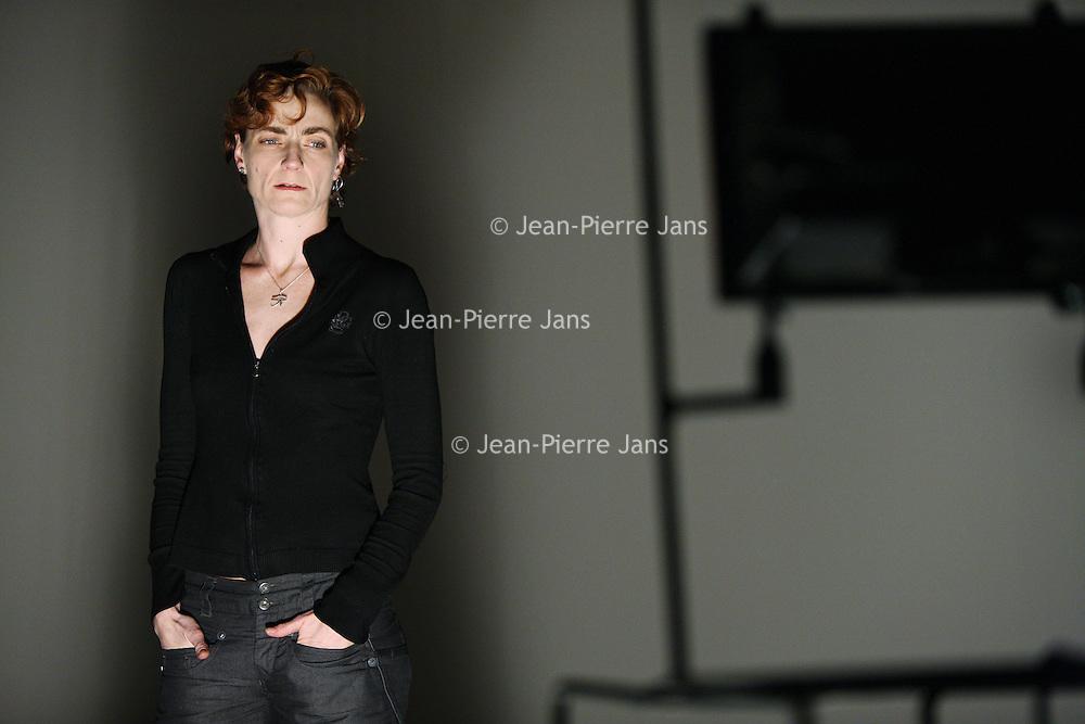 Nederland, Amsterdam , 27 februari 2010.<br /> Anouk van Dijk (1965, Velp) is choreograaf, artistiek leider en danser. Tevens ontwikkelde zij gedurende haar carrière het bewegingsysteem de Countertechniek.<br /> Foto:Jean-Pierre Jans
