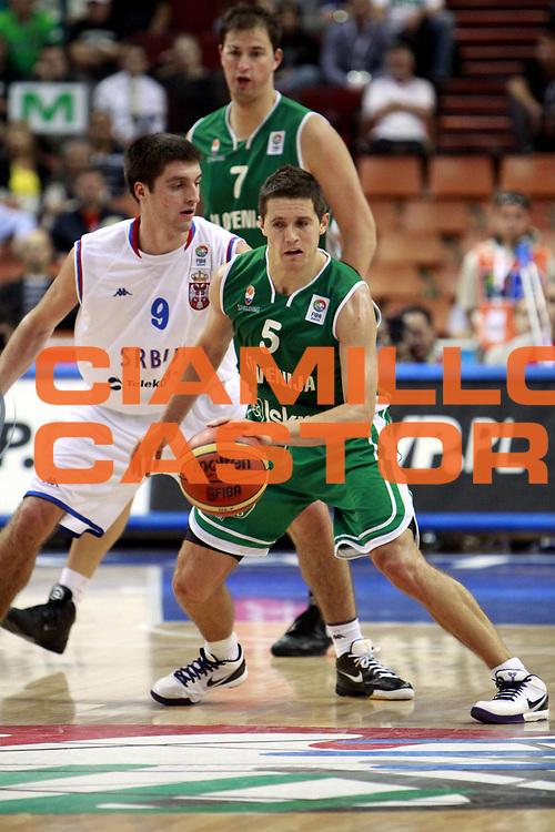 DESCRIZIONE : Katowice Poland Polonia Eurobasket Men 2009 Semifinali Semifinal Serbia Slovenia<br /> GIOCATORE : Jaka Lakovic<br /> SQUADRA : Slovenia<br /> EVENTO : Eurobasket Men 2009<br /> GARA : Serbia Slovenia<br /> DATA : 19/09/2009 <br /> CATEGORIA :<br /> SPORT : Pallacanestro <br /> AUTORE : Agenzia Ciamillo-Castoria/H.Bellenger<br /> Galleria : Eurobasket Men 2009 <br /> Fotonotizia : Katowice  Poland Polonia Eurobasket Men 2009 Semifinali Semifinal Serbia Slovenia<br /> Predefinita :