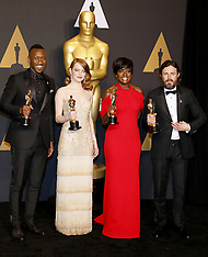 89th Annual Academy Awards - Winners 02-26-2017