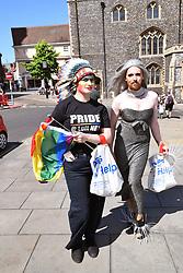 Norwich Pride, 28 July 2018 UK - Conchita Wurst lookalike!