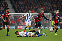 Football - 2018 / 2019 FA Cup - Third Round: AFC Bournemouth vs. Brighton & Hove Albion<br /> <br /> Bournemouth's Jack Simpson dumps Florin Andone of Brighton to the floor during a challenge for the ball at the Vitality Stadium (Dean Court) Bournemouth <br /> <br /> COLORSPORT/SHAUN BOGGUST