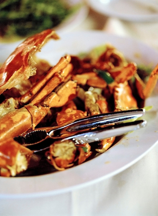 Pepper and salt spiced crab at East Coast Seafood center