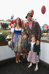 05.10.2014, Theresienwiese, München, GER, 1. FBL, FC Bayern Muenchen am Oktoberfest, im Bild Xabi Alonso attends with his wife Nagore Aramburu the Oktoberfest beer festival at Kaefer Wiesnschaenke tent at Theresienwiese on 2014/10/05. EXPA Pictures © 2014, PhotoCredit: EXPA/ Eibner-Pressefoto/ Pool<br /> <br /> *****ATTENTION - OUT of GER*****