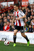 Brentford Sergi Canos (47) during the EFL Sky Bet Championship match between Brentford and Queens Park Rangers at Griffin Park, London, England on 22 April 2017. Photo by Andy Walter.