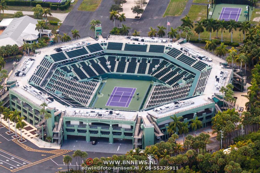 USA/Miami/20150808 - Rondvlucht boven Miami, Crandon Park in Key Biscayne