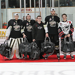 TRENTON, ON  - MAY 6,  2017: Canadian Junior Hockey League, Central Canadian Jr. &quot;A&quot; Championship. The Dudley Hewitt Cup. Championship game between Trenton Golden Hawks and the Georgetown Raiders. The 2017 Dudley Hewitt Cup All-Star Team as selected by the Tournament Directorate.<br /> (Photo by Tim Bates / OJHL Images)