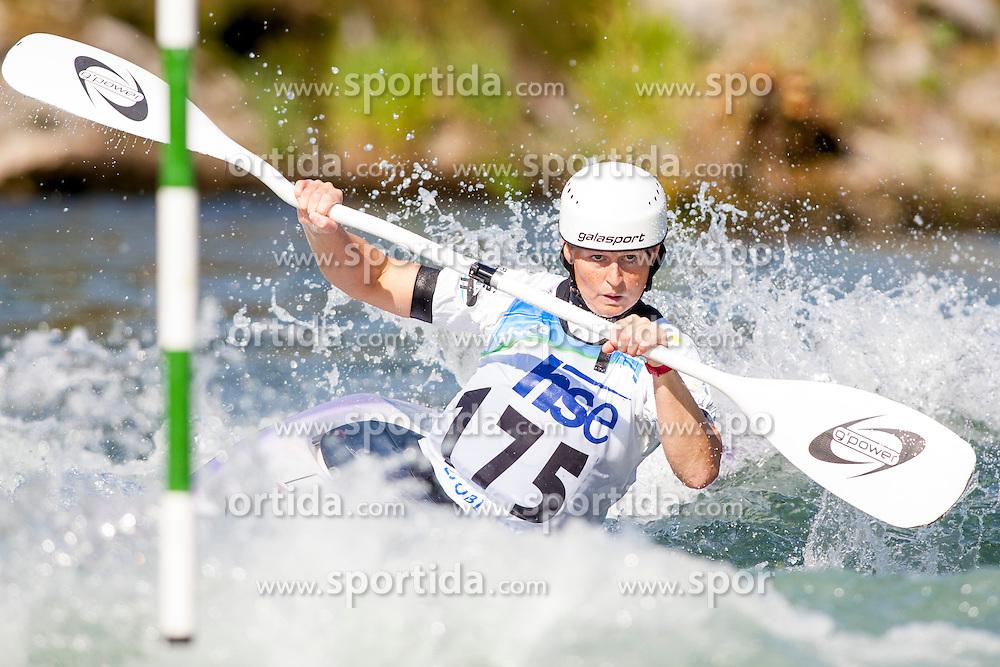 Sarah Grant of Australia during Kayak(K1) Women semi-final race at ICF Canoe Slalom World Cup Sloka 2013, on August 18, 2013, in Tacen, Ljubljana, Slovenia. (Photo by Urban Urbanc / Sportida.com)