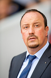 LONDON, ENGLAND - Saturday, September 19, 2009: Liverpool's manager Rafael Benitez during the Premiership match against West Ham United at Upton Park. (Pic by David Rawcliffe/Propaganda)