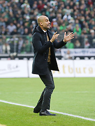 05.12.2015, Stadion im Borussia Park, Moenchengladbach, GER, 1. FBL, Borussia Moenchengladbach vs FC Bayern Muenchen, 15. Runde, im Bild Josep Guardiola (Trainer, FC Bayern M¸nchen), Borussia Moenchengladbach - FC Bayern Muenchen, Fussball, 1. Bundesliga, 05.12.2015, Foto: Deutzmann/Eibner // during the German Bundesliga 15th round match between Borussia Moenchengladbach and FC Bayern Muenchen at the Stadion im Borussia Park in Moenchengladbach, Germany on 2015/12/05. EXPA Pictures © 2015, PhotoCredit: EXPA/ Eibner-Pressefoto/ Deutzmann<br /> <br /> *****ATTENTION - OUT of GER*****