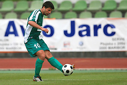 Amir Karic of Olimpija at football match of 2nd SNL between NK Olimpija Ljubljana and NK Zagorje, on May 03, 2009, in ZAK stadium, Ljubljana, Slovenia. Olimpija won 9:0 and 4 Rounds before the end won the 1st place in 2nd SNL. Next year they will play in First Slovenian League. (Photo by Vid Ponikvar / Sportida)