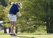 Jul 10, 2015; Lancaster, PA, USA; Brittany Lincicome tees off the eleventh hole during the second round of the U.S. Women's Open at Lancaster Country Club.
