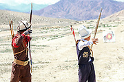 traditional archery practice in Kyrgyzstan