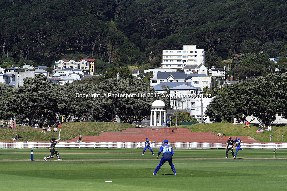 General View of the Basin Reserve during the Ford Trophy 2017 - Wellington Firebirds vs Otago Volts 04-February-2017, Basin Reserve, Saturday 04th February 2017. Copyright Photo: Raghavan Venugopal / www.photosport.nz