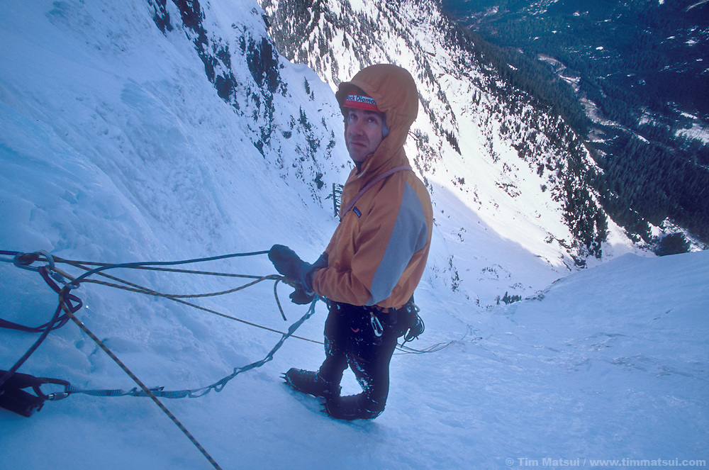 Dale Remsberg in Spindrift Couloir, Big Four Mountain, WA.