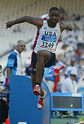 Walter Davis of the United States finsihed 11th in the triple jump at 55-0 3/4 (16.78m) in the 2004 Olympics in Athens, Greece on Sunday, August 22, 2004.