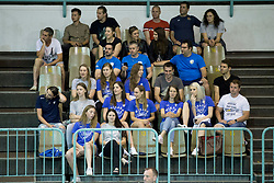 Supporters of Slovenia during volleyball match between national teams of Slovenia and Netherlands of 2018 CEV volleyball Godlen European League, on June 6, 2018 in Arena Bonifika, Koper, Slovenia. Photo by Urban Urbanc / Sportida