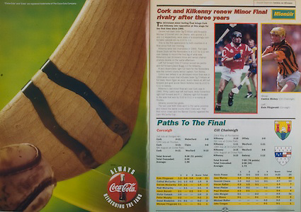 All Ireland Senior Hurling Championship - Final, .13.09.1998, 09.13.1998, 13th September 1998, .13091998AISHCF,.Senior Kilkenny v Offaly, .Minor Kilkenny v Cork,.Offaly 2-16, Kilkenny 1-13,.Coca Cola,